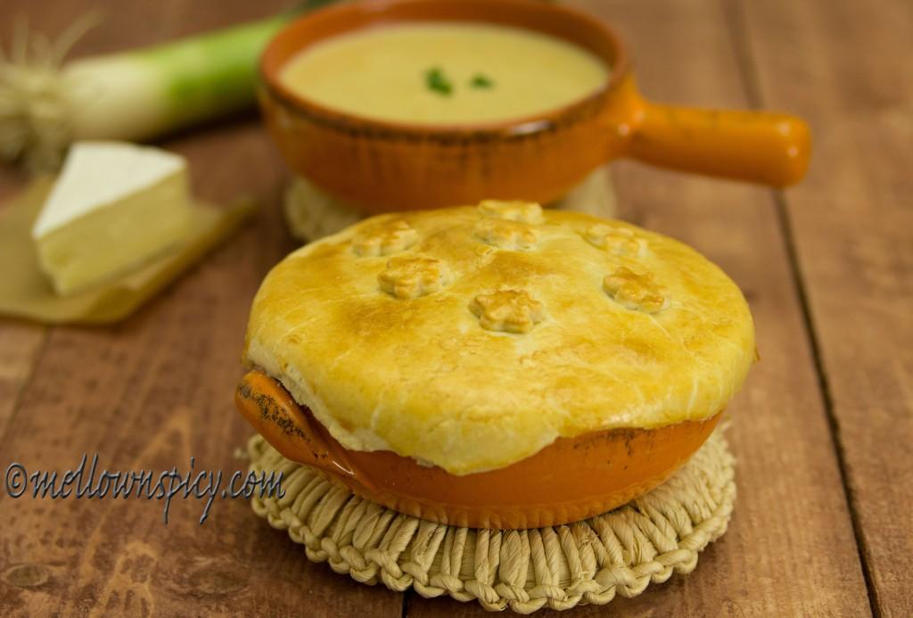 Leek Brie Soup En Croute