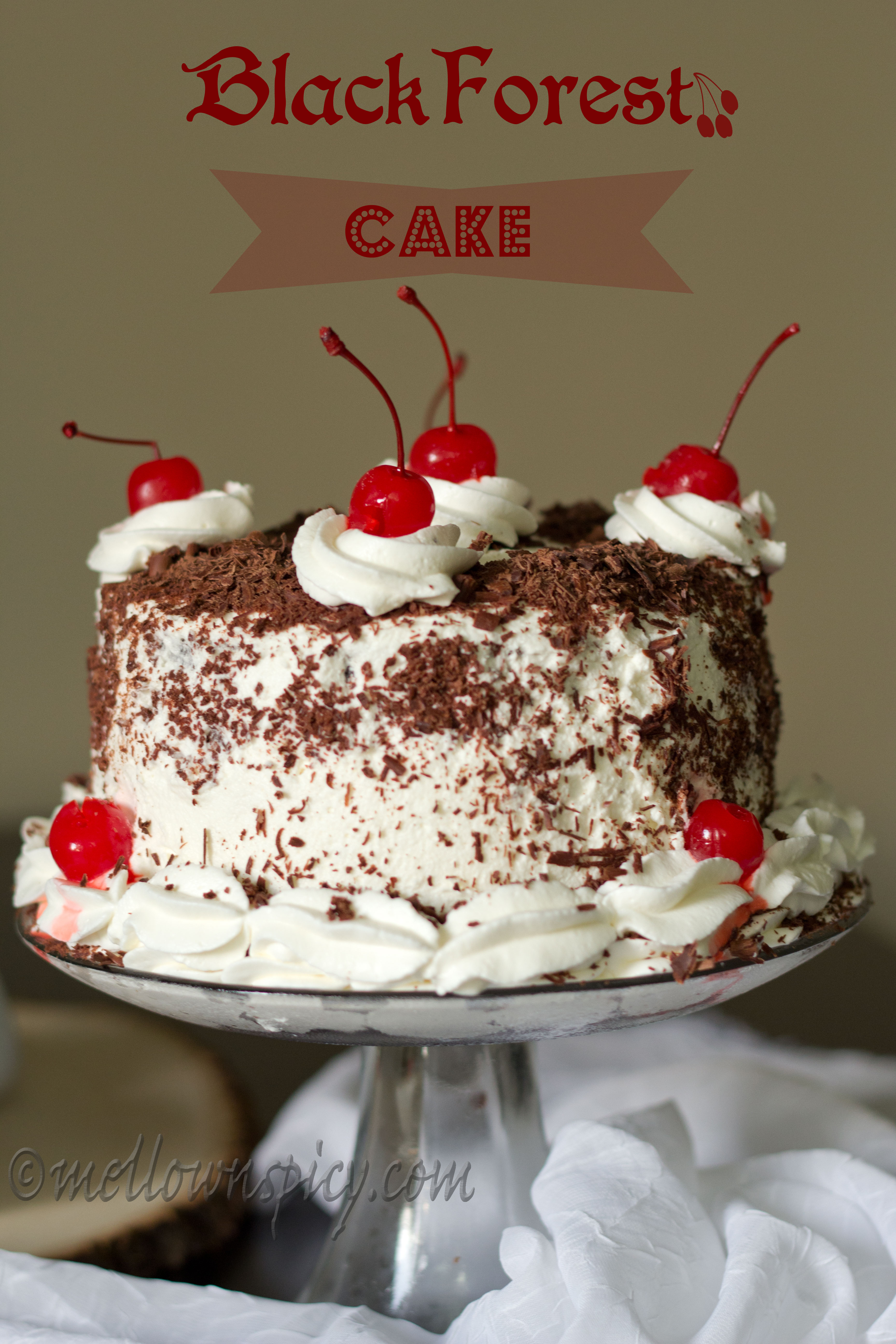 Cake Images With Name Sonali : Black Forest Cake