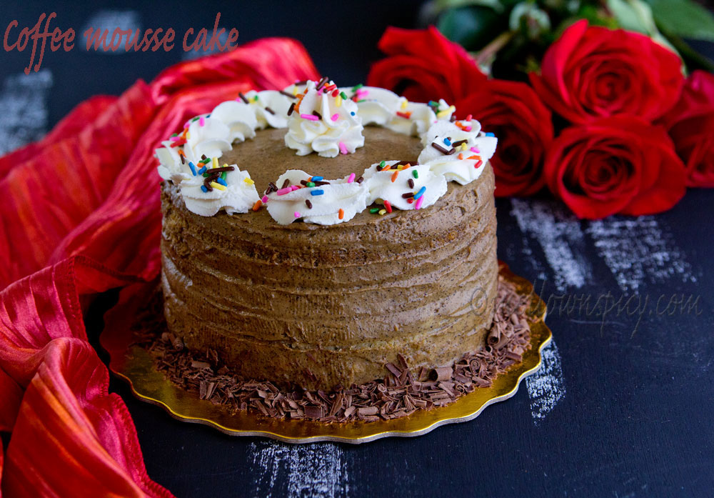 Cake Images With Name Sonali : Coffee Mousse Cake