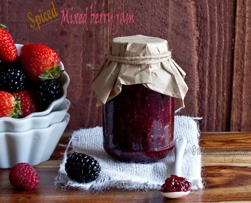 Spiced Mixed Berry Jam