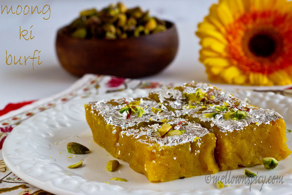 Moong Dal Ki Burfi : Lentil Fudge |Sweet|