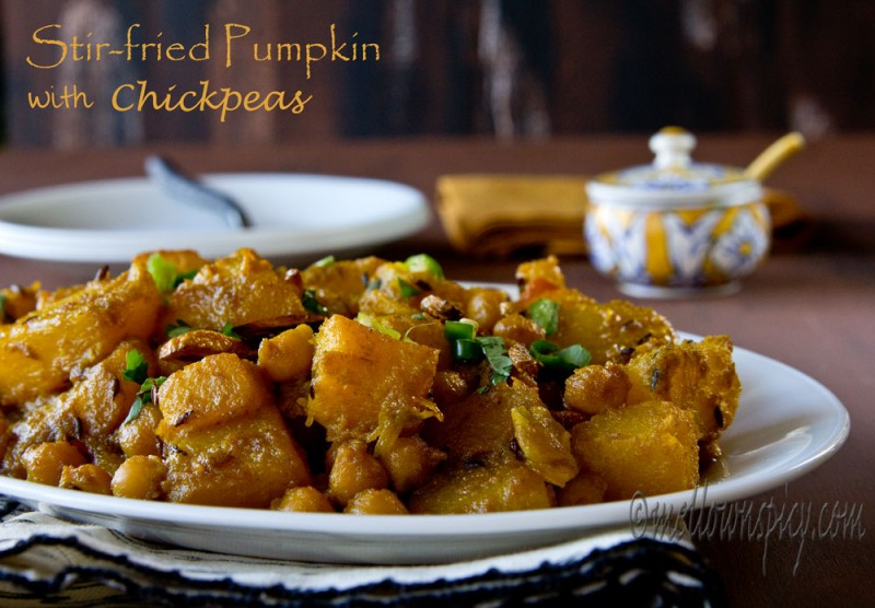 Stir Fry Pumpkin with Chickpeas