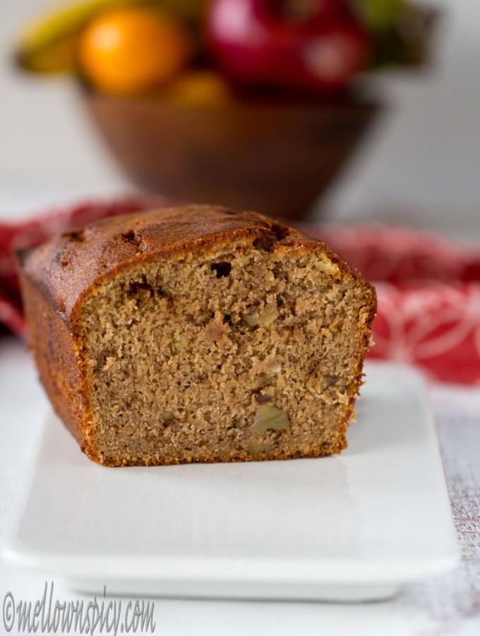 Whole Wheat Banana Nut Bread |Baking|