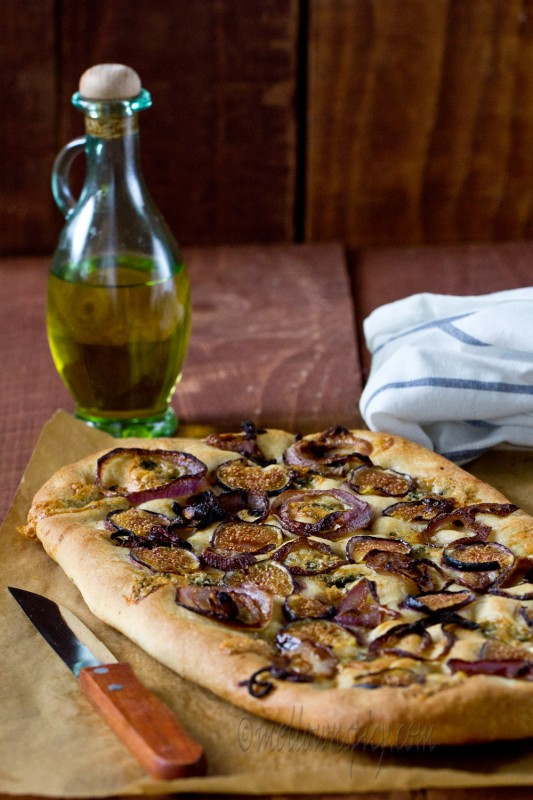 Fig Onion and Feta Focaccia