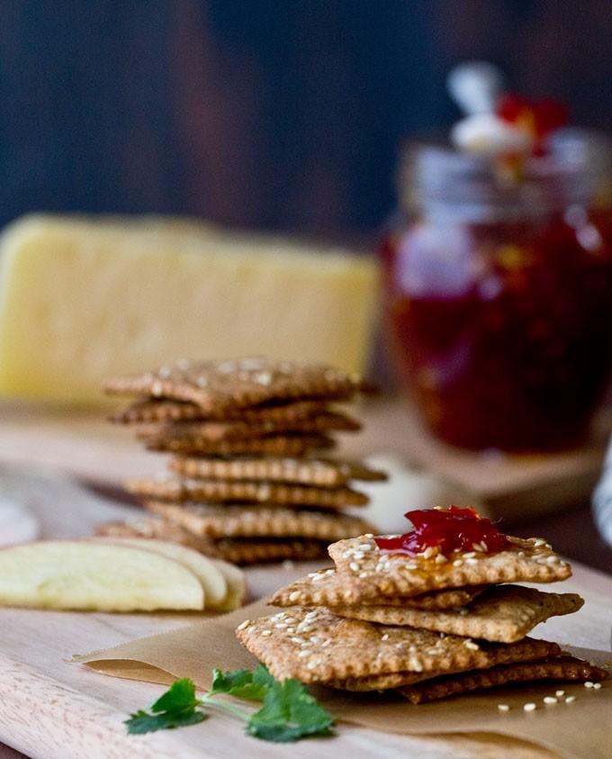 Multi-Grain Sesame Seeds  Crackers |Baking|