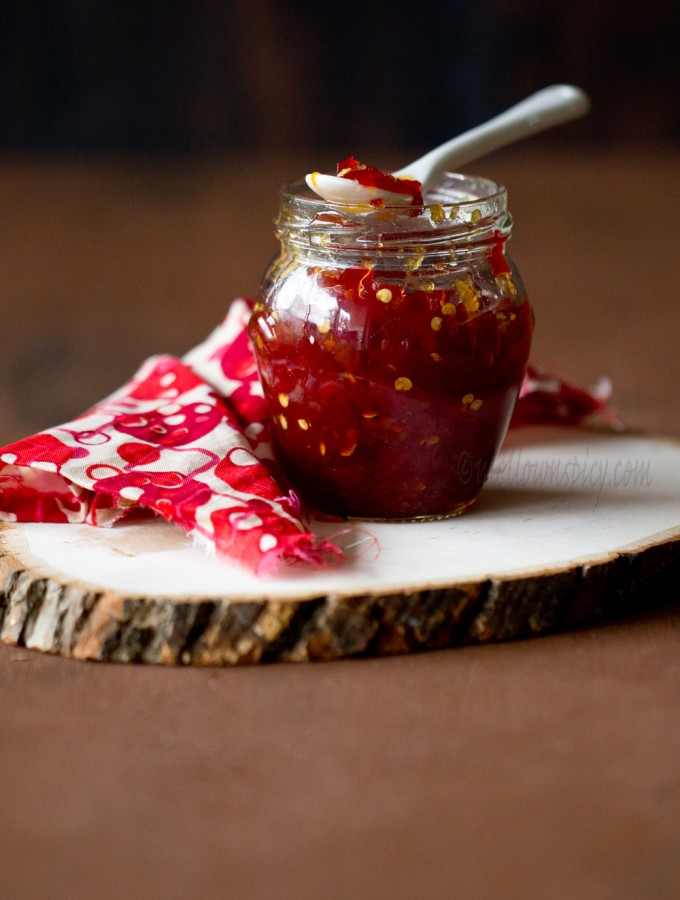 Sweet and Spicy Chili Pepper Jam |JAM, JELLY AND PRESERVES|