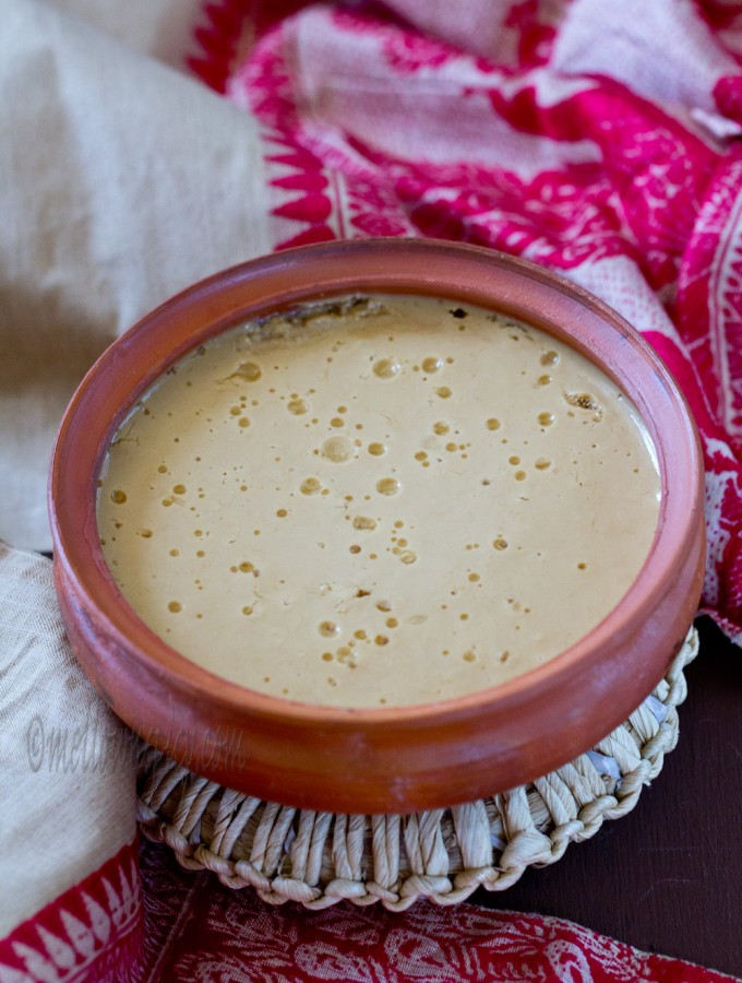 Laal Mishti Doi: Caramelized Sweet Yogurt |Sweet|