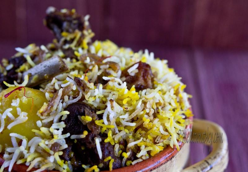 Kolkata style mutton biryani cooking for Awadhi cuisine kolkata