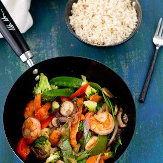 Simple Shrimp And Vegetables Stir-Fry