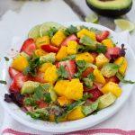 Easy Strawberry Mango Avocado Salad