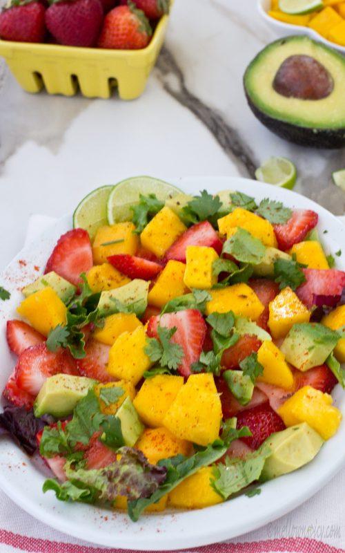 Summer Special Strawberry Mango Avocado Salad