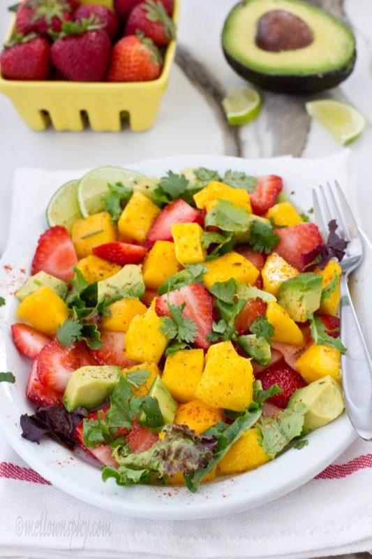 Strawberry,Mango and Avocado Salad |Salads|