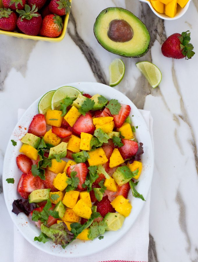 Strawberry,Mango and Avocado Salad |Salads|