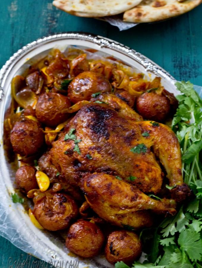 Chicken Roast in Pickling Spices