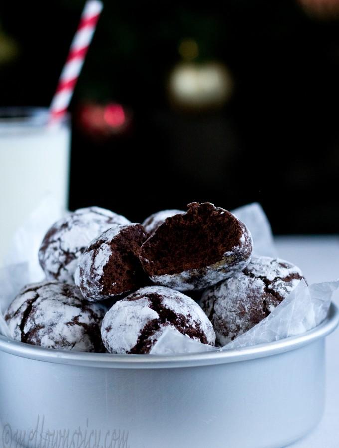 Chocolate Crinkle Cookies |Baking|