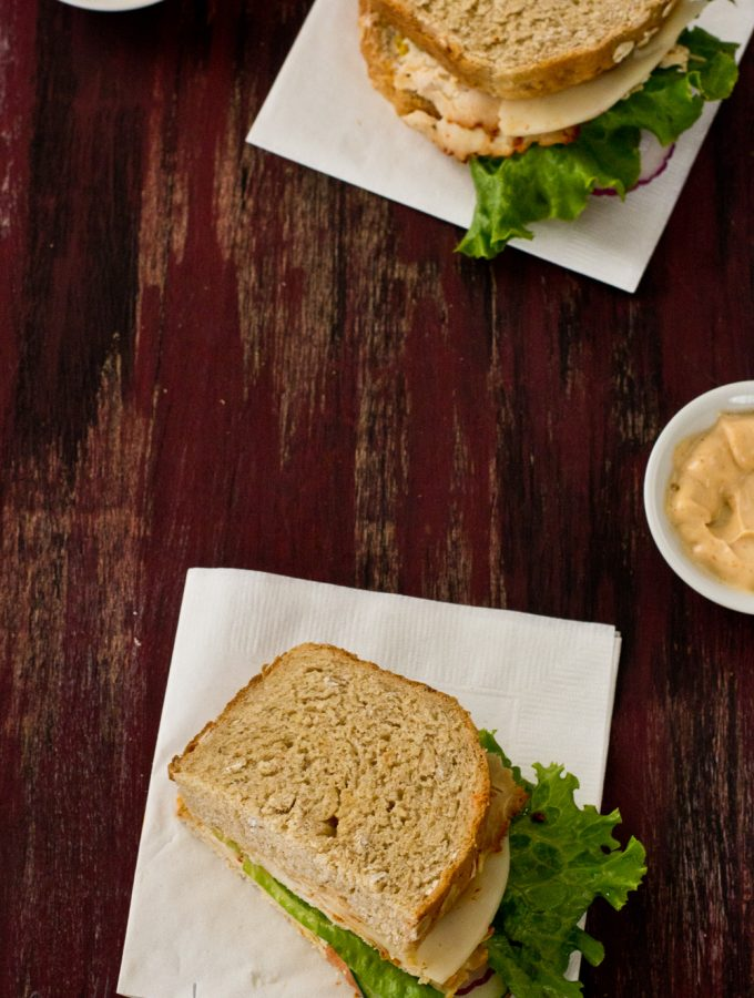 Easy Chicken and Cheese Sandwich |Sandwiches and Wraps|