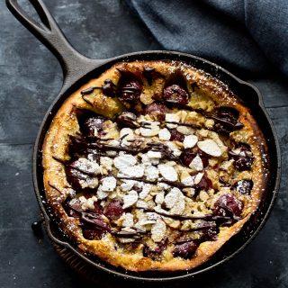 Best Cherry Almond Dutch Baby Pancake