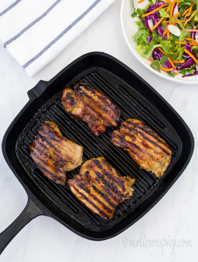 Grilled Chicken in Honey Ginger Sauce |Grilling|