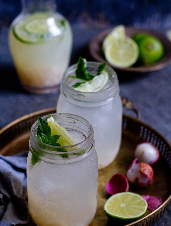 Litchi Lime Fizz : Lychee Lime Drink |Thirst Quencher|