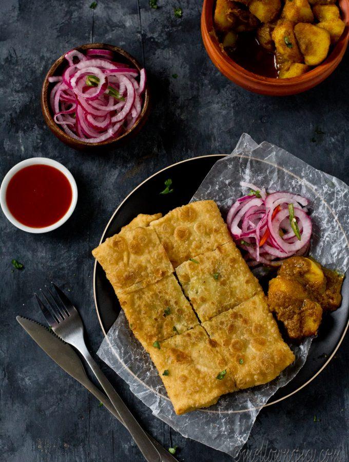 Mughlai Paratha : Moglai Porota |Snacks|