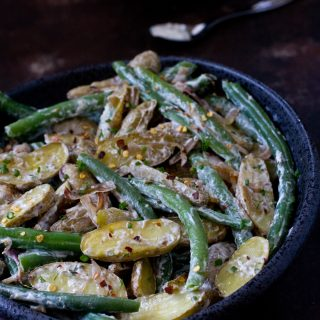 Roasted Fingerling Potato and Green Beans Salad |Salads|