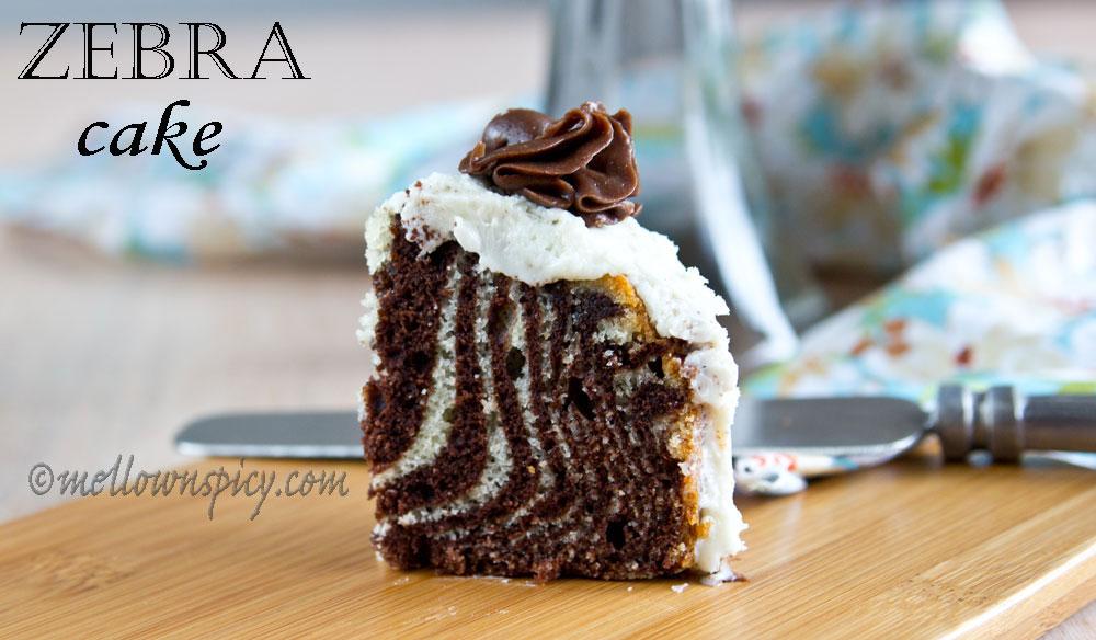 Zebra Cake : Surprise ! Cakes Daring Bakers' Challenge |Baking
